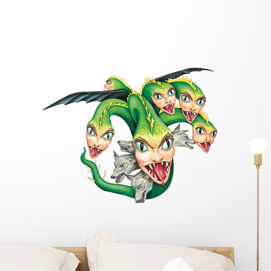 Scylla monster flying Wall Decal