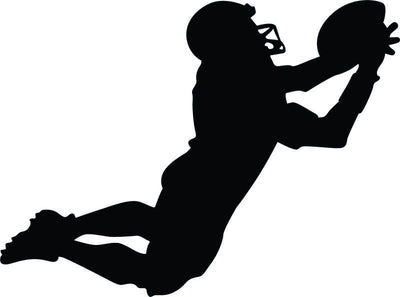 Football Silhouette Wall Decal