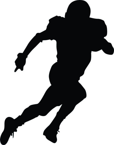 Running Football Silhouette Wall Decal