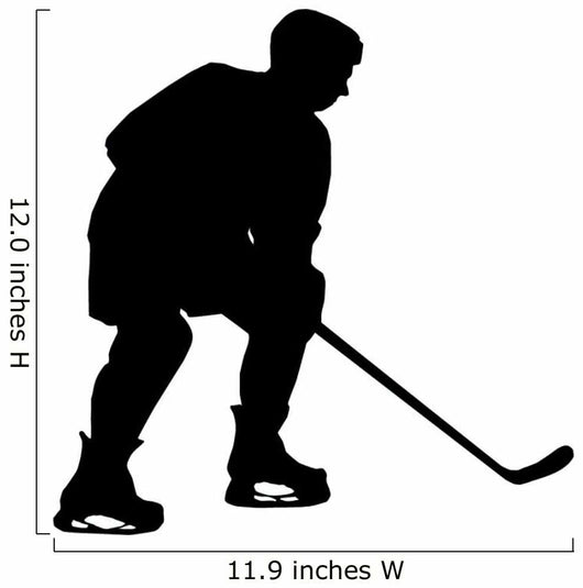 Hockey Silhouette Wall Decal
