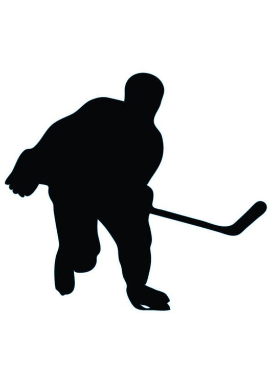 Ice Hockey Silhouette Wall Decal