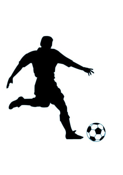 Soccer Silhouette Wall Decal