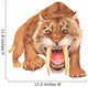 Smilodon Growling Wall Decal