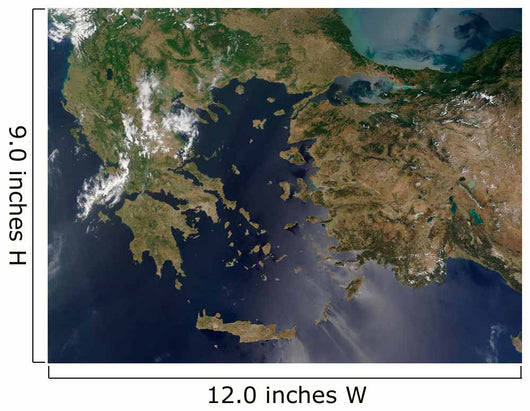 Satellite Greece and Turkey Wall Decal Design 1