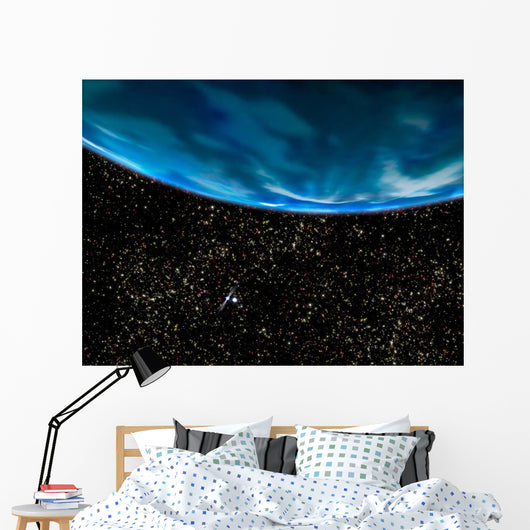 Illustration Earth's Horizon Wall Decal