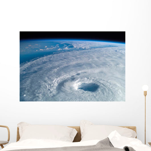 Close-up Eye Hurricane Isabel Wall Decal Design 1