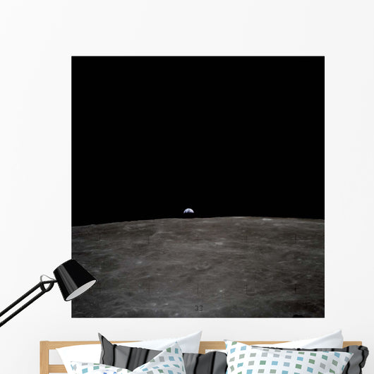 Earth Rises over Lunar Wall Decal