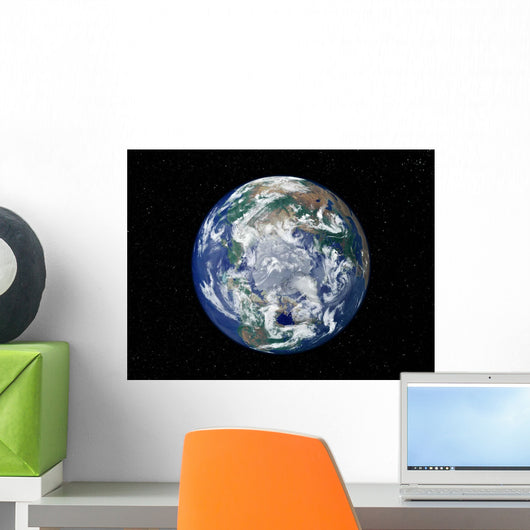 Fully Lit Earth Centered Wall Decal Design 5