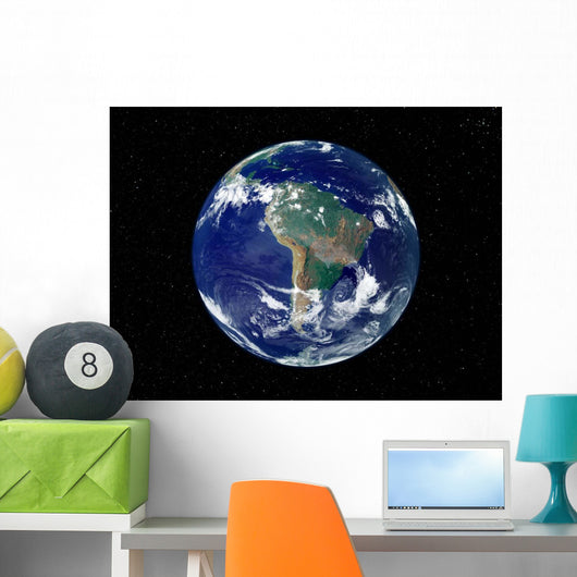 Fully Lit Earth Centered Wall Decal Design 6