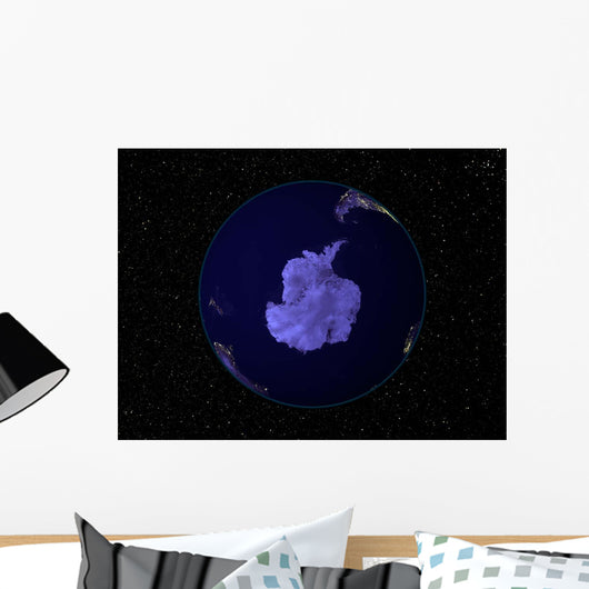 Full Earth Night Showing Wall Decal Design 8