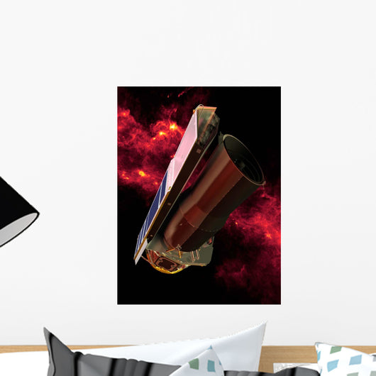 Spitzer Seen against Infrared Wall Decal Design 1