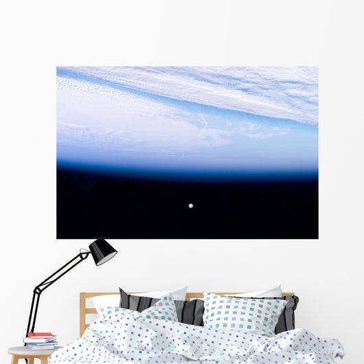 Full Moon above Eartha Wall Decal
