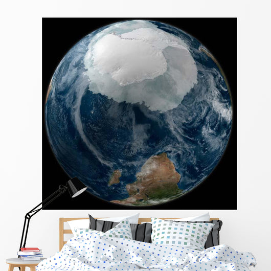 Earth with Full Antarctic Wall Decal