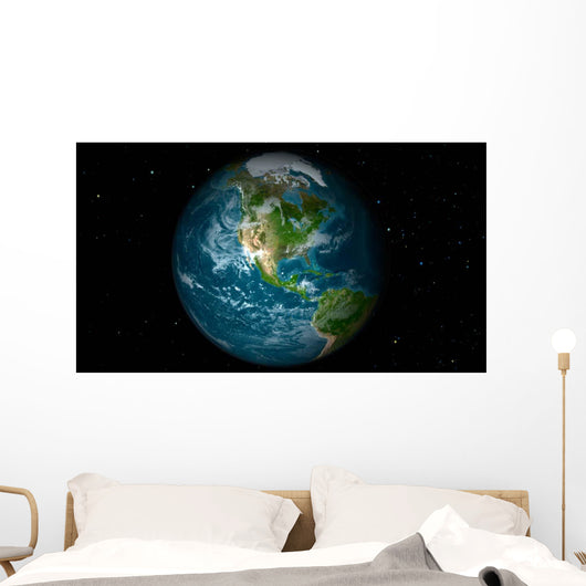 Full Earth Showing North Wall Decal Design 9