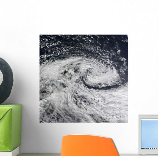 Satellite Storm over New Wall Decal