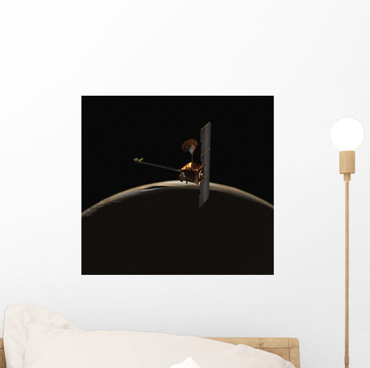 Mars Odyssey Spacecraft over Wall Decal