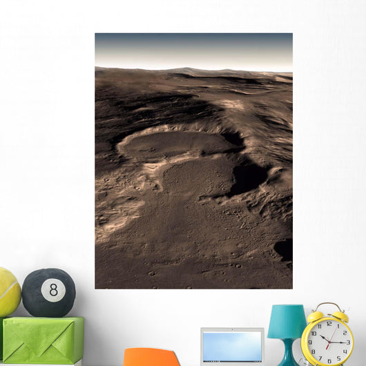 Three Craters Eastern Hellas Wall Decal
