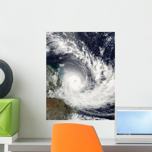 Tropical Cyclone Hamish over Wall Decal