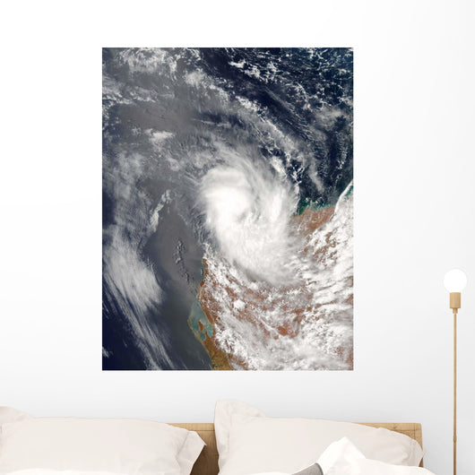 Cyclone Dominic off Shore Wall Decal