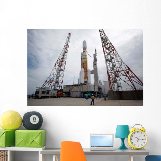 H-iib Rocket Launch Pad Wall Decal