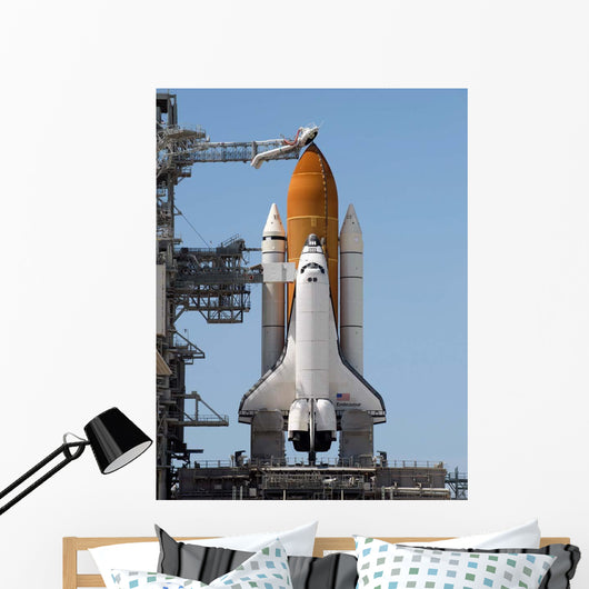 Space Shuttle Endeavour Sits Wall Decal Design 2