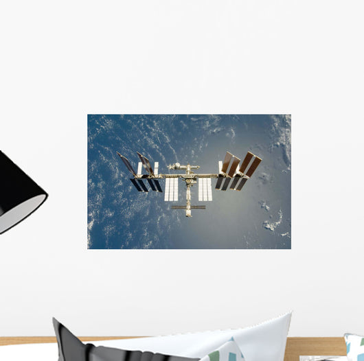 International Space Station Backdropped Wall Decal Design 15