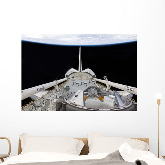 Partial Space Shuttle Endeavour's Wall Decal