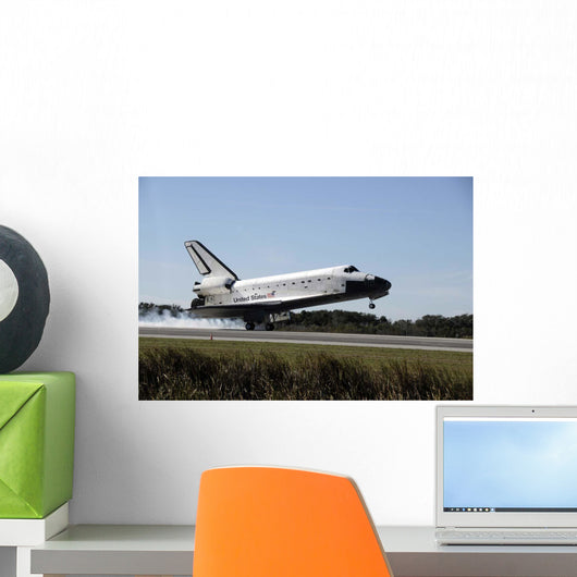Space Shuttle Atlantis Touches Wall Decal Design 2