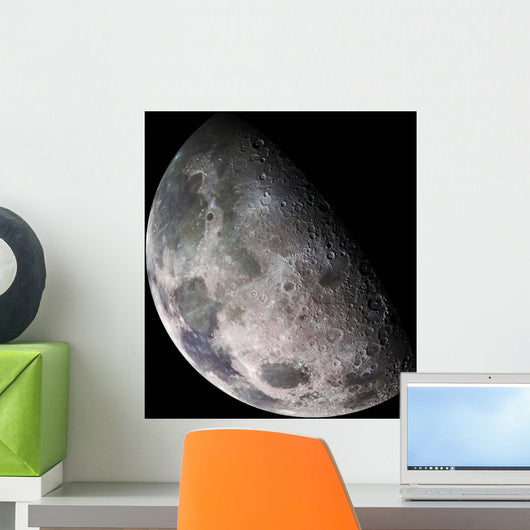 Color Mosaic Earth's Moon Wall Decal