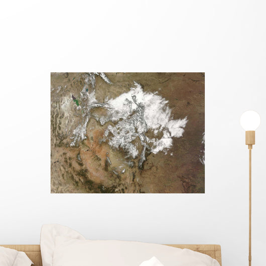 Snow Covers Rocky Mountains Wall Decal