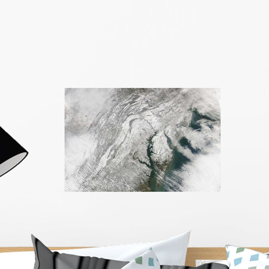 Satellite Massive Nor'easter Snow Wall Decal