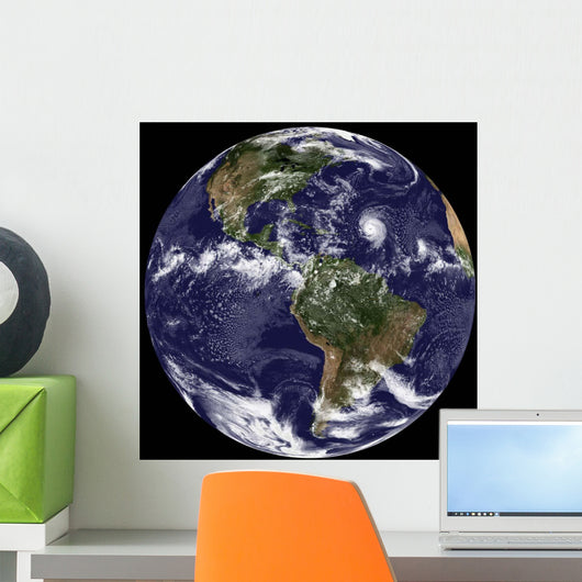 Full Earth Showing North Wall Decal Design 8