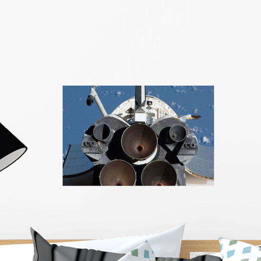 Three Main Engines Space Wall Decal