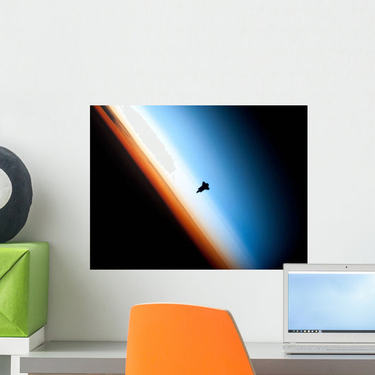 Silhouette Space Shuttle Endeavour Wall Decal
