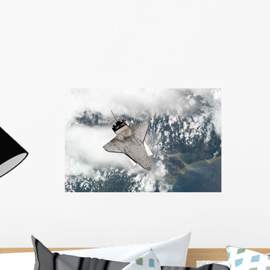 Underside Space Shuttle Discovery Wall Decal Design 1