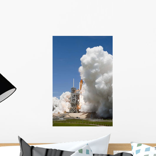 Exhaust Plume Forms around Wall Decal Design 1