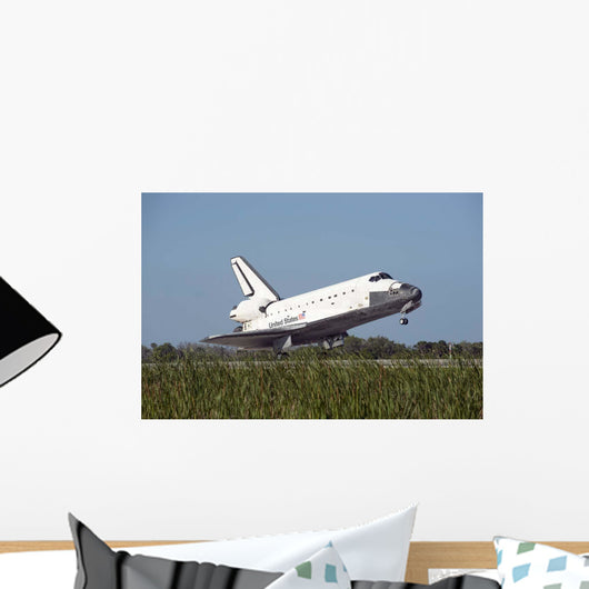 Space Shuttle Atlantis Touches Wall Decal Design 1