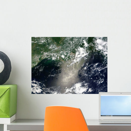 Satellite Streaks and Ribbons Wall Decal