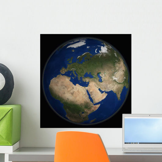 Full Earth Showing Africa Wall Decal