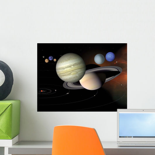 Solar System Wall Decal Design 2