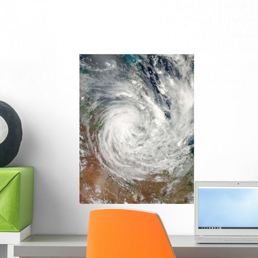 Tropical Cyclone Yasi over Wall Decal Design 1