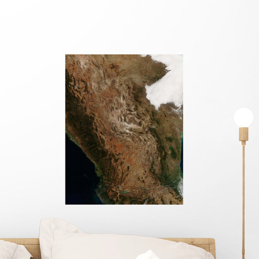 Satellite Landscape Central Mexico Wall Decal
