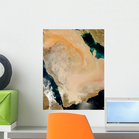 Satellite Dust Storm Saudi Wall Decal Design 1