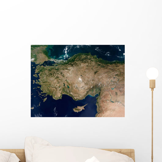 Satellite Turkey and Island Wall Decal