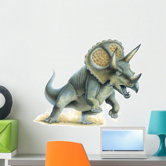 Triceratops Charging Wall Decal