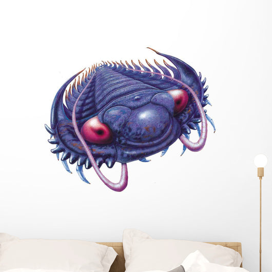 Trilobite swimming. Wall Decal