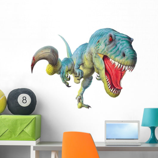 Utahraptor on the Hunt Wall Decal
