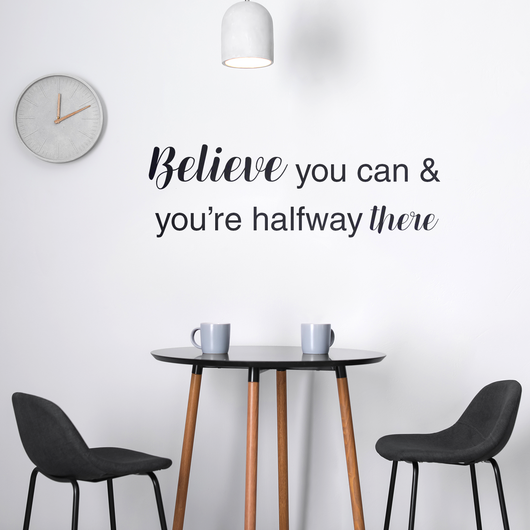 Custom Vinyl Quote Wall Decal - 2 Lines of Text