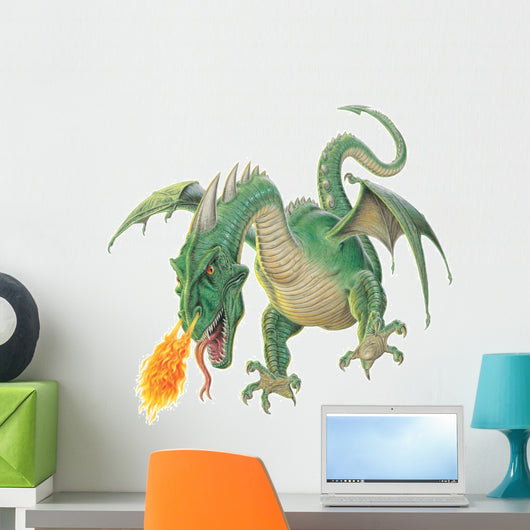 Destructive Flying Wyvren Dragon Wall Decal