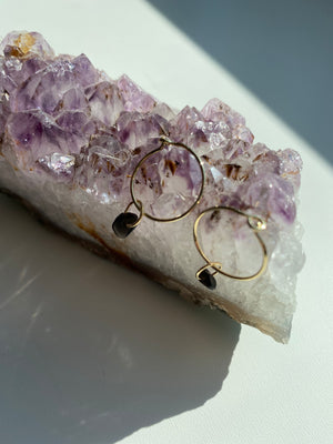 HoneyCat Wishing Crystal Hoop Earrings